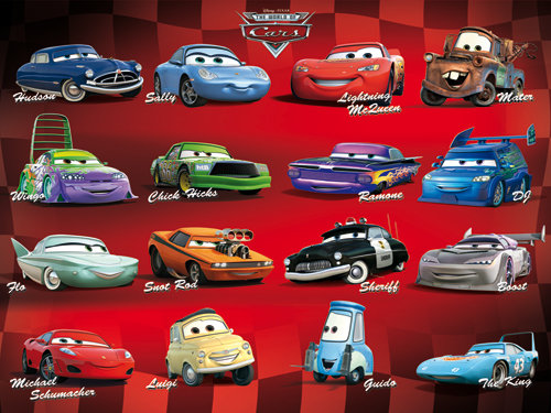 cars 1 characters names if you were a car - Cars The Movie 2 Characters