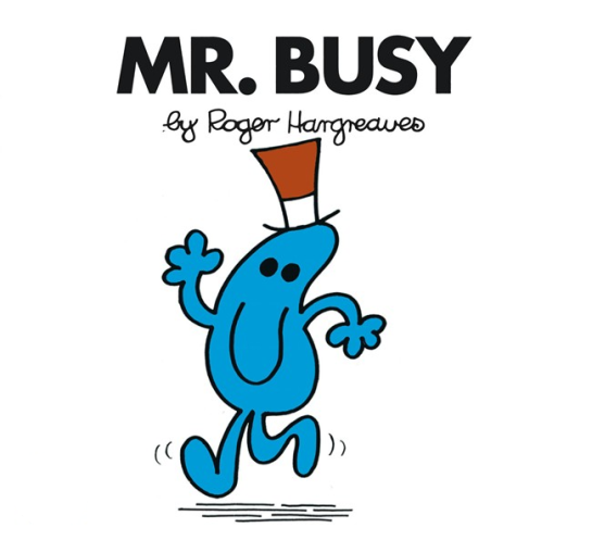 Cartoon drawing of Mr. Busy