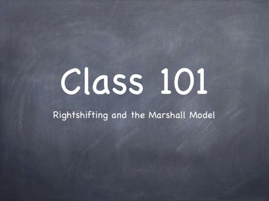 """Blackboard saying """"Class 101"""""""